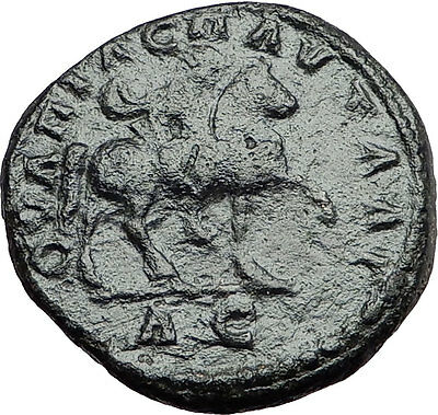 ELAGABALUS on HORSE 218AD Pautalia Thrace Authentic Ancient Roman Coin i57893