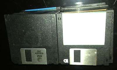 """50 Pack 3.5"""" Floppy Micro Disks Discs Black TO BE Blank Blanked Formatted 1.44MB"""