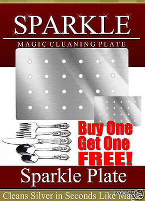 Silver/gold  *sparkle* Cleaning Plate (Square) Get Jewelry One **free**