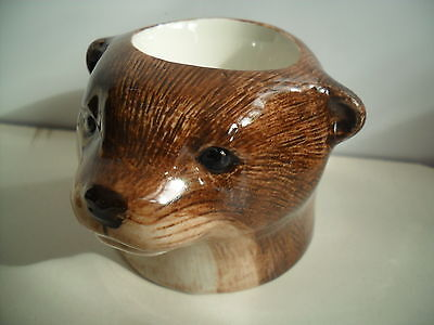 Unusual Otter Egg Cup By Quail Pottery Boxed Ideal Gift