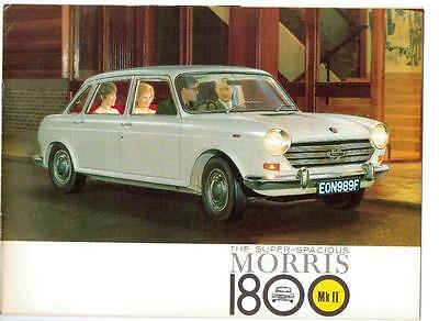 BMC MORRIS 1800 Mk II  SALES BROCHURE MAY 1968