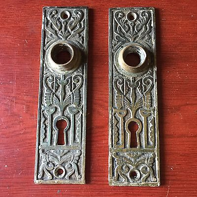 Victorian Branford Set Solid Cast Iron Backplates