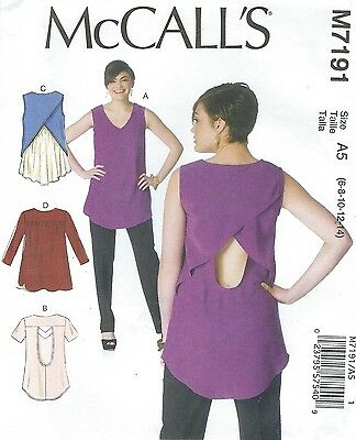 MCCALL\'S 7191 Misses\' Tops Sewing Pattern - $5.89 | PicClick
