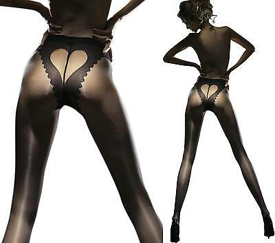 Fiore Obession CORAZON Sheer Heart Back Hosiery Tights Pantyhose 20 Denier