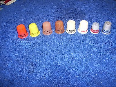 Vintage Advertising Thimbles - Bell Oil Free Westinghouse Filter Queen Delco ..