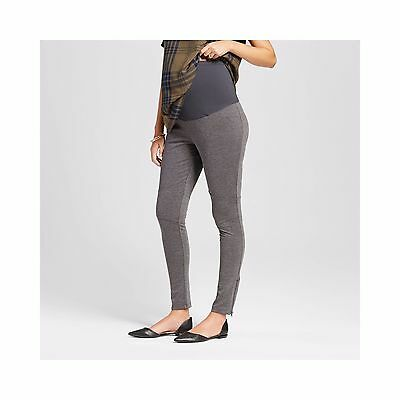 New Womens Maternity Gray Over the Belly Moto Pant Liz lange NWT Size L XL XXL