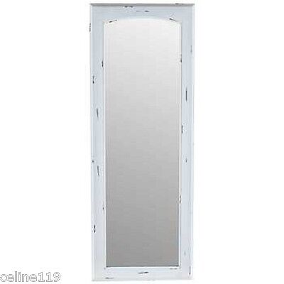 """NEW Long White or Aqua Vintage Wood Mirror Distressed  Shabby Chic On Sale 40"""""""
