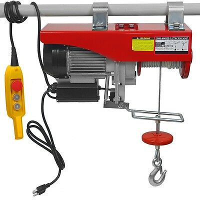 2000Lb Industrial Power Electric Motorize Overhead Shop Ceiling Hoist Cable Lift
