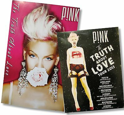 Pink P!nk 2 Piece Concert Poster Gift Set The Truth About Love Flower