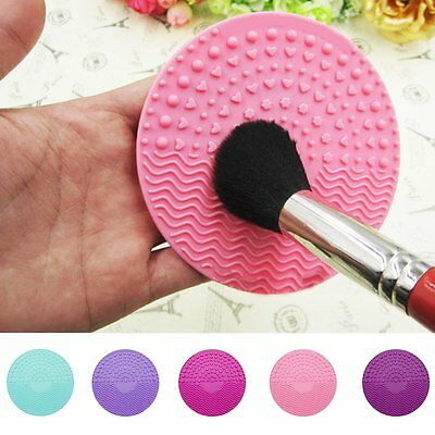 Silicone Makeup Brush Cleaner Cosmetic Cleaning Mat Pad Sucker Scrubber Board