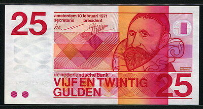 Netherlands 1971, 25 Gulden, P92a, 10 digit serial, UNC