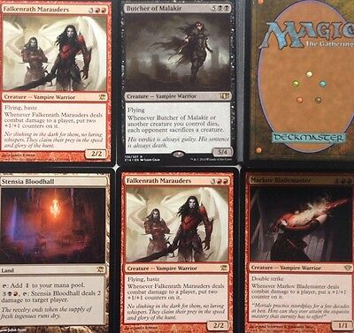 || READY TO PLAY! || Black Red VAMPIRE DECK, RARES 60+ Cards