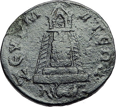 PHILIP II 244AD Zeugma in Commagene TEMPLE GROVE CAPRICORN Roman Coin i57898
