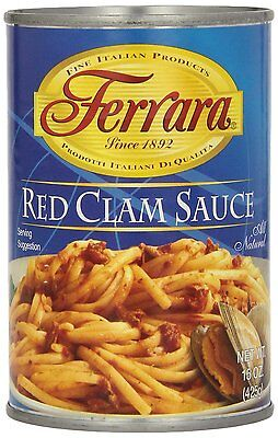Ferrara Red Clam Sauce, 15-ounce Cans (pack Of 12)