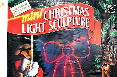 "Mr. Christmas Mini Light Sculpture Bow indoor or outdoor 24"" Vintage 1993"
