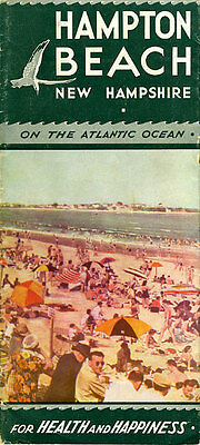 1930's Hampton Beach New Hampshire Travel Brochure