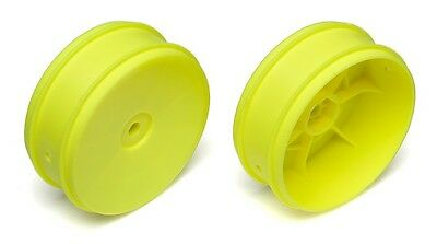 Team Associated 1/10th Scale 61mm Front 2WD Buggy Wheels Yellow (2)  ASC91573
