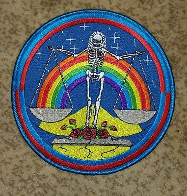 Grateful Dead skeleton scales patch 6 x 6 inches