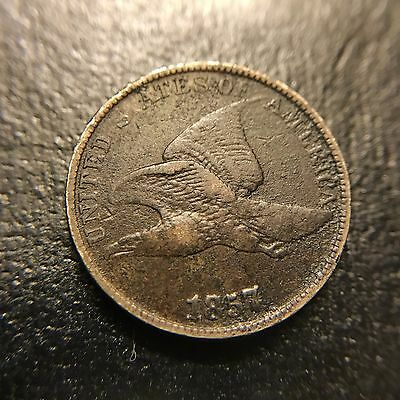 1857 Flying Eagle Cent VF Very Fine Large Letters Type Coin 1c