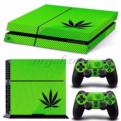 WEED STRIPES Vinyl Decal Skin Sticker For Playstation 4 PS4 Console Controller