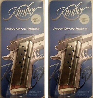 1000139 Factory Kimber 1911 Compact 9mm 8 Round Stainless Steel Magazine