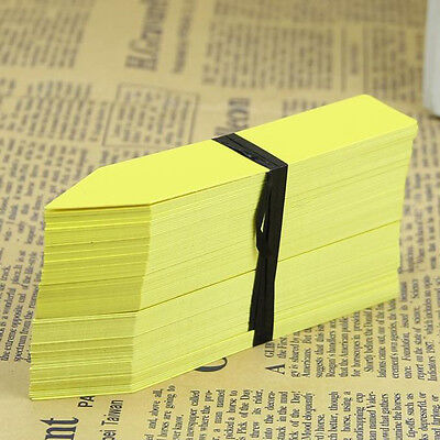 100Pcs 4 Inch Garden Plant Pot Marker Plastic Stake Tag Nursery Seed Labels