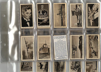 cigarette cards our empire 1937 full set