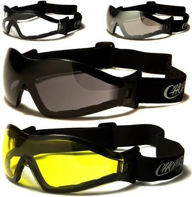 Choppers Motorcycle Goggles Sunglasses Sports Padded Motor Bike Bikers Cycle Men