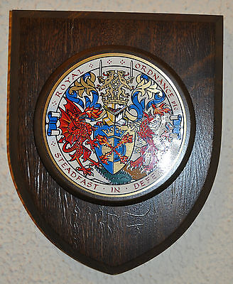 Royal Ordnance mess wall plaque shield crest coat of arms