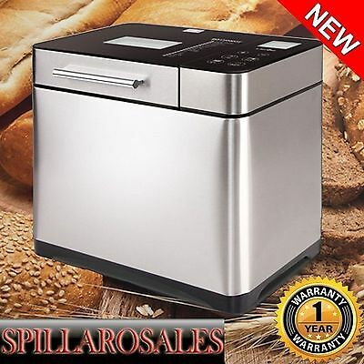 Automatic Bread Maker 3 Loaf Sizes with Fruit / Nut Dispenser 15 Hour Timer