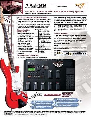 Roland VG-88 Multi-Effects Guitar Effect Pedal Synth Tested OK and pdf manual GK