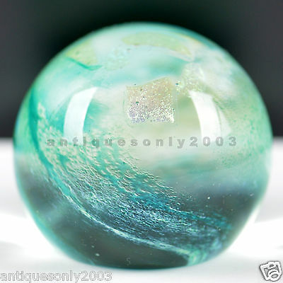 SIGNED CAITHNESS Art Glass SHIMMER Scottish Paperweight Colin Terris 2001 #1436
