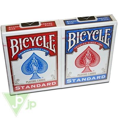 2 X Bicycle Standard Rider Back Poker Casino Playing Cards - 1 Red & 1 Blue Deck