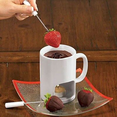 DCI - Fondue for Two - Porcelain Mug with 2 forks and tealight - DC18978