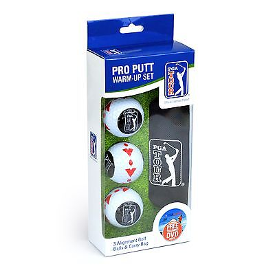 PGA TOUR Official Pro Putt Alignment Warm Up Golf Balls - Christmas Gift For Him