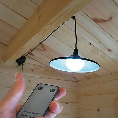 Outdoor LED Solar Shed Light with Remote Control