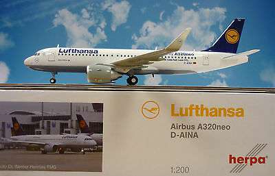 Herpa Wings 1:200 Airbus A320neo Lufthansa D-AINA  557979