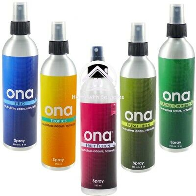 ONA Spray 250ml Odour Smell Control Neutralising Air Odor Agent -  All Scents!