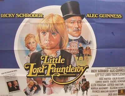 Alec Guinness LITTLE LORD FAUNTLEROY(1980)Original quad movie posterUK POST FREE
