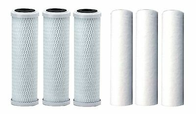 "3x 10"" Carbon Block 3x 10"" Sediment Filter RO Water Filter Cartridge Replacement"