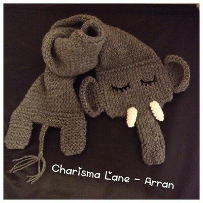 Knitted Elephant Scarf
