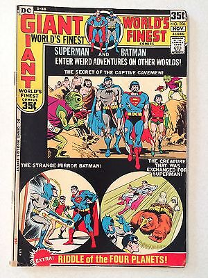 World's Finest #206 from 1971 Giant issues 35 cents Superman Batman