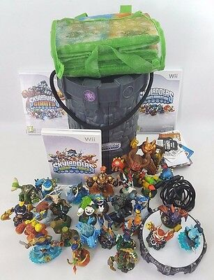 Skylanders Bundle 30 Figures 3 Games 1 Portal Bag & Tower Storage Wii Swap Force