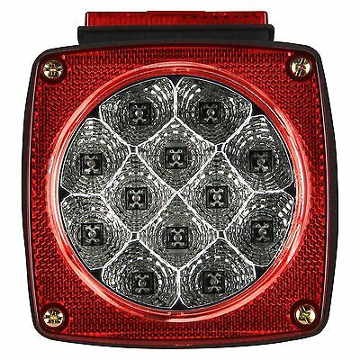 Pilot Automotive NV-5081 Red LED Submersible Boat PWC Trailer Light