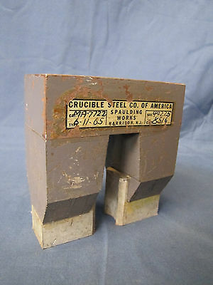 Huge Vintage Crucible Steel Co. Of America Large Industrial Shop Magnet.