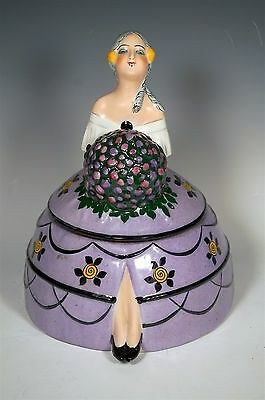 """Signed Editions Etling Paris D.h. Chiparus Art Deco Figural Lady Box 9"""" Tall Wow"""