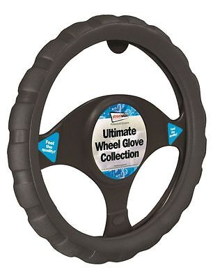 Ford Escort Black Chunky Sports Grip Steering Wheel Cover Glove 37cm
