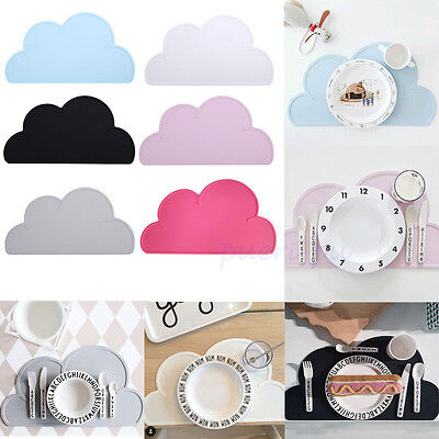 Cloud Shape Silicone Dining Pad Kitchen Placemats Insulation Tableware Coasters