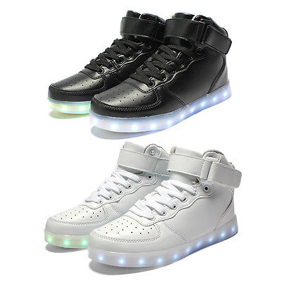 Men LED Light Up Shoes Sneaker Women Flashing Lights Casual Shoes Size 5.5 -12.5
