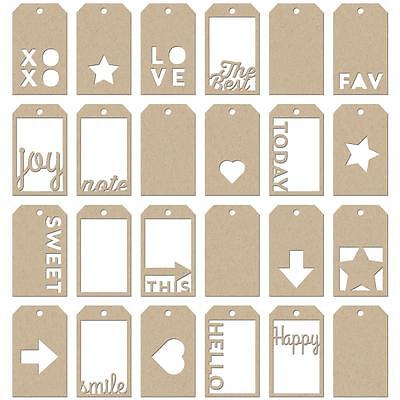 Kraft Word Tags Mini Die Cut Jillibean Soup Staples Cardstock